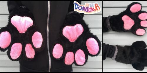 Black and Pink Fursuit Hanpaws