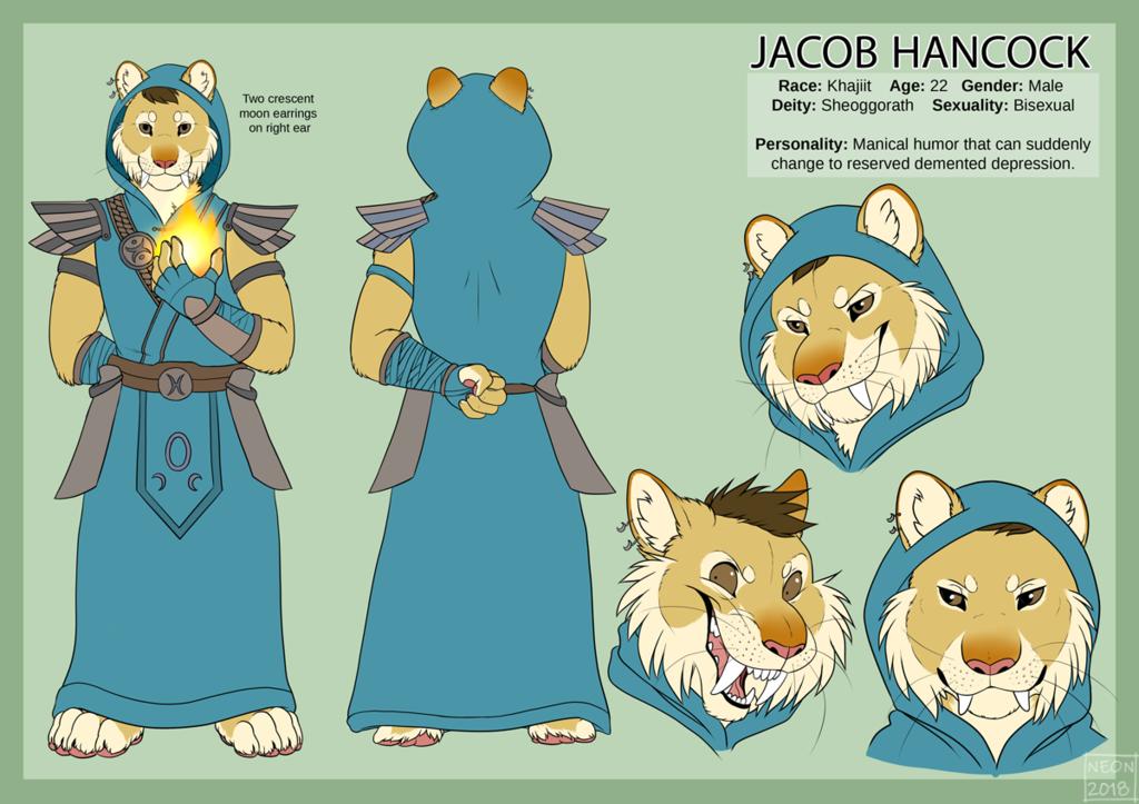 [Commission] Jacob Reference Sheet Khajiit