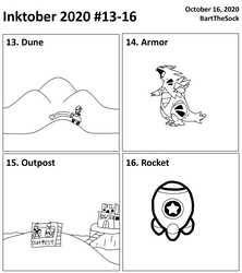 Inktober 2020 #13-16