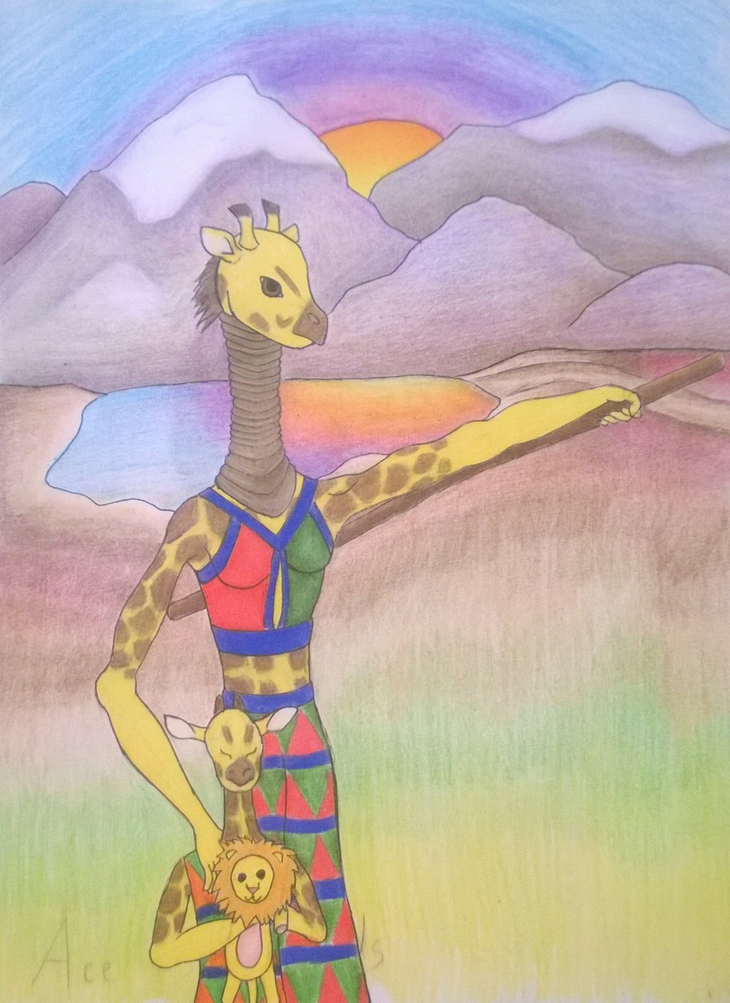 Featured image: Anthro Tarot Deck Ace of Wands