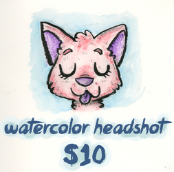 $10 Watercolor Headshot