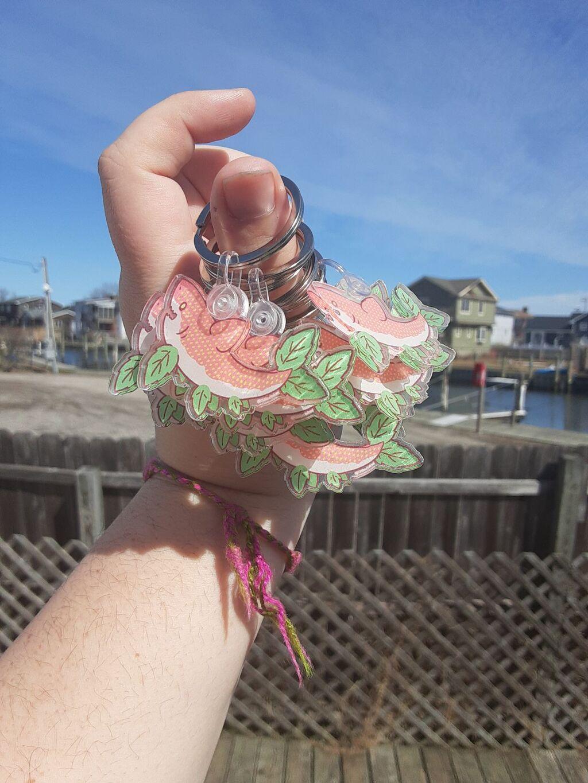 Strawberry Shark Keyrings!