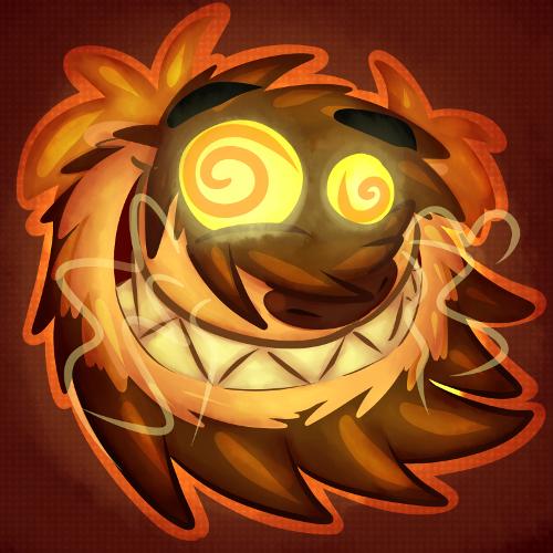 Hyper active lion icon