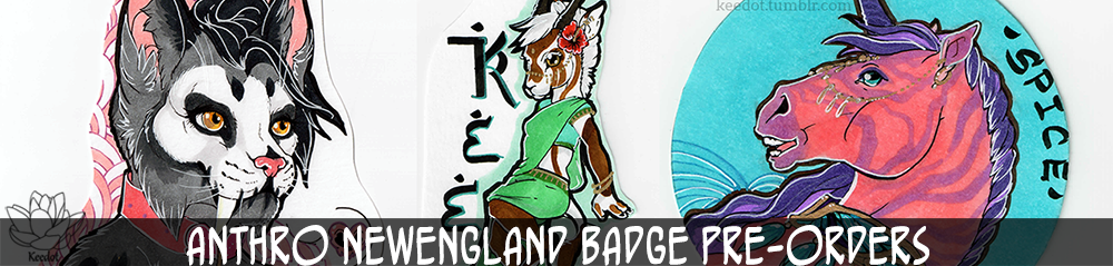 ANTHRO NEWENGLAND- Badge preorders.