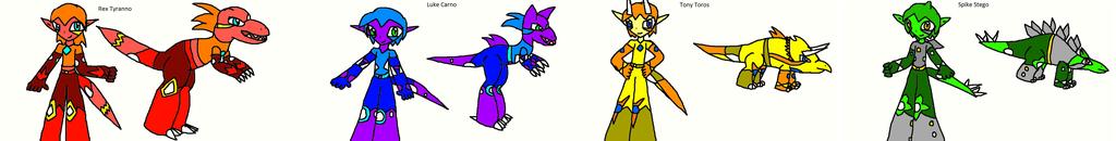 My Dinaurian Characters