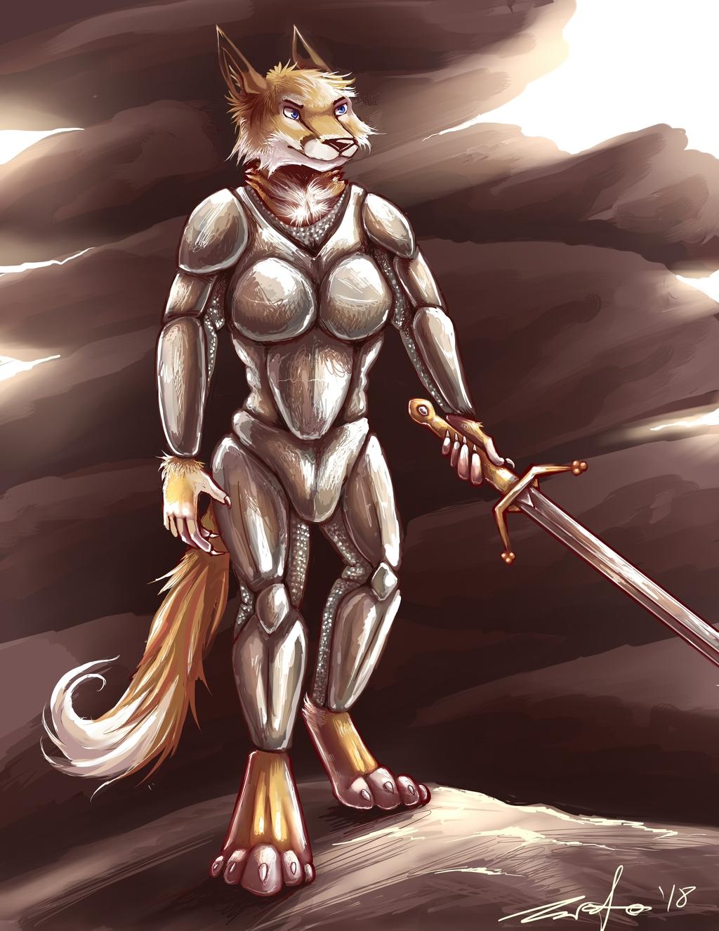 Fox in armor