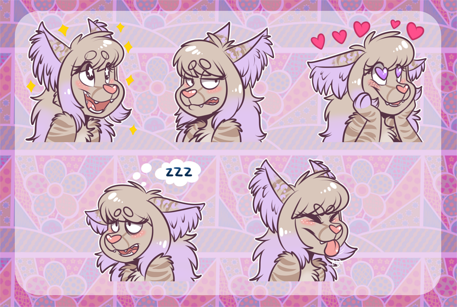 [commission] Telegram Stickers: Cleo