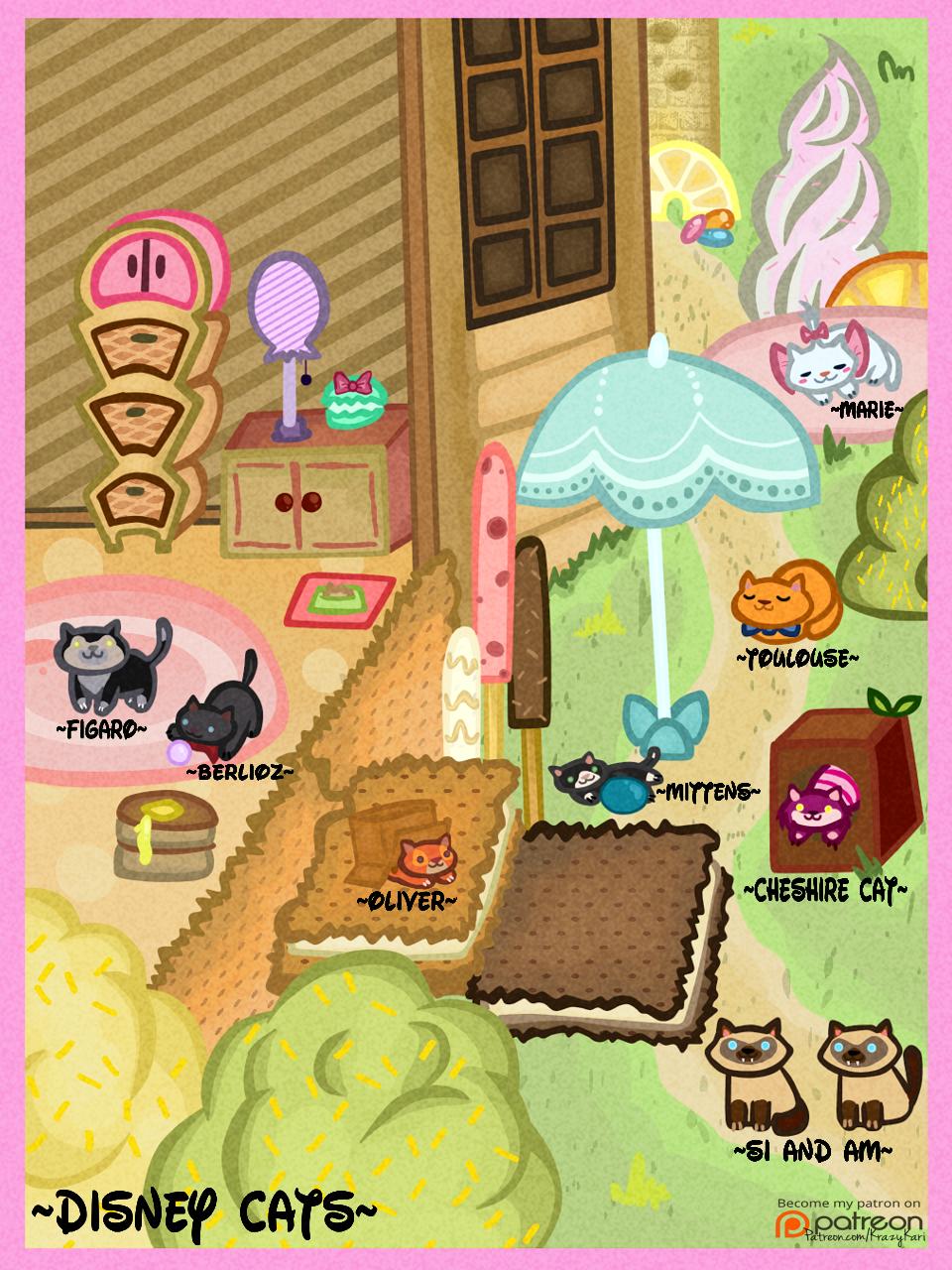 (Neko Atsume) Disney Cats