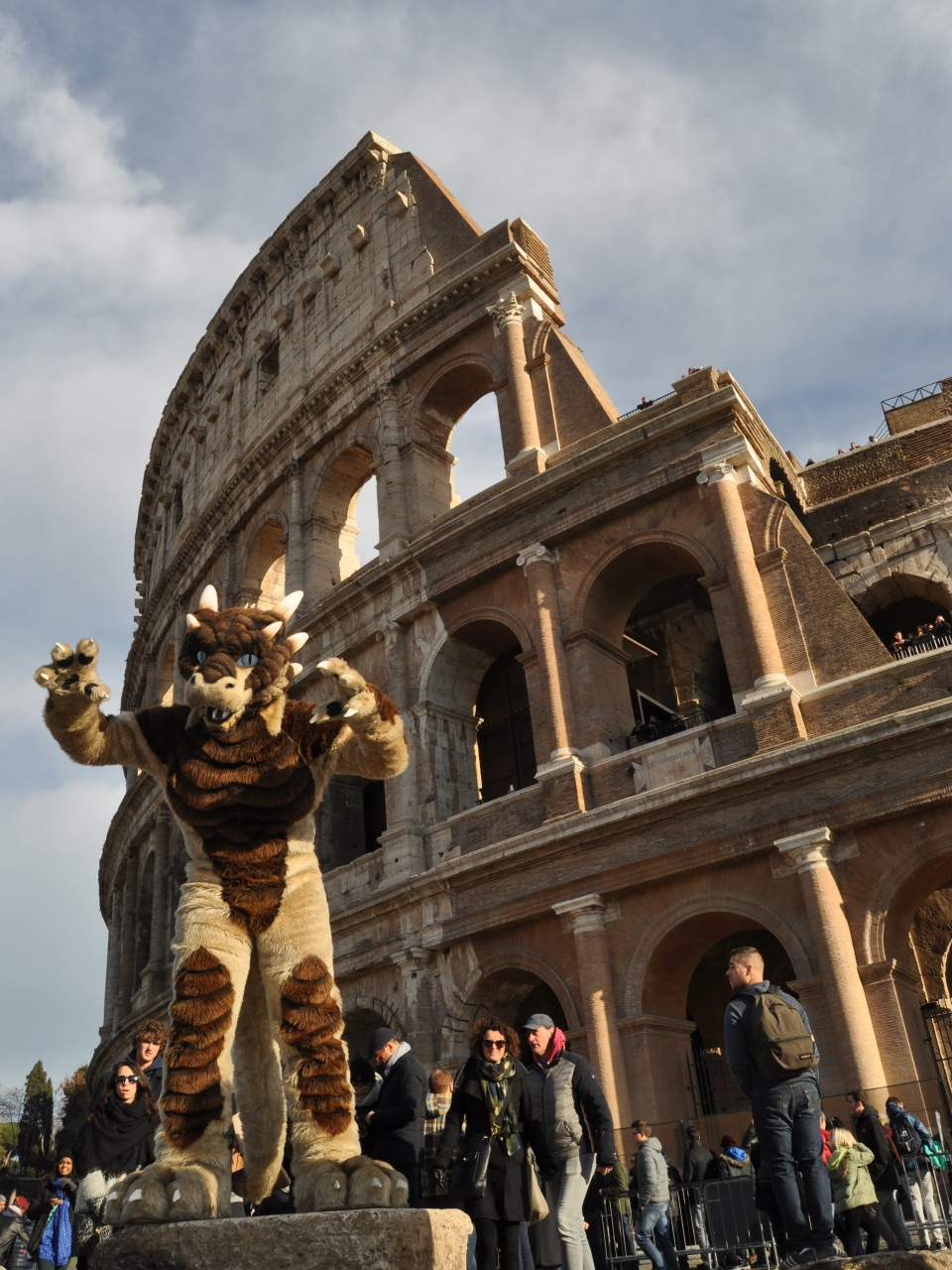 Roaring at the Colosseum!