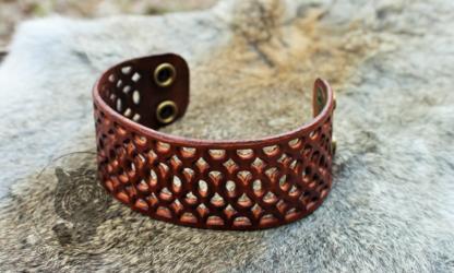 Dark Tan Intricate Filigree Bracelet