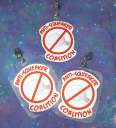 Anti-Squeaker Coalition Badges for Sale