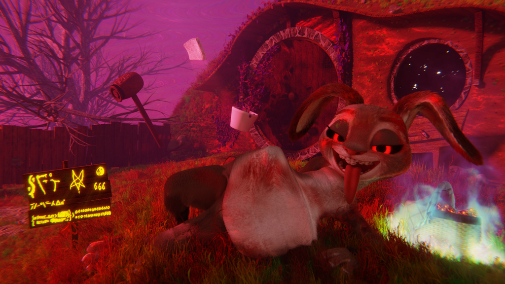 Her Chocolate Bunny - Quantum CPU render