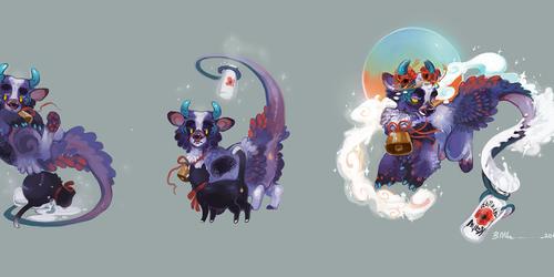 Lantern Dragon: Milky and Velvet