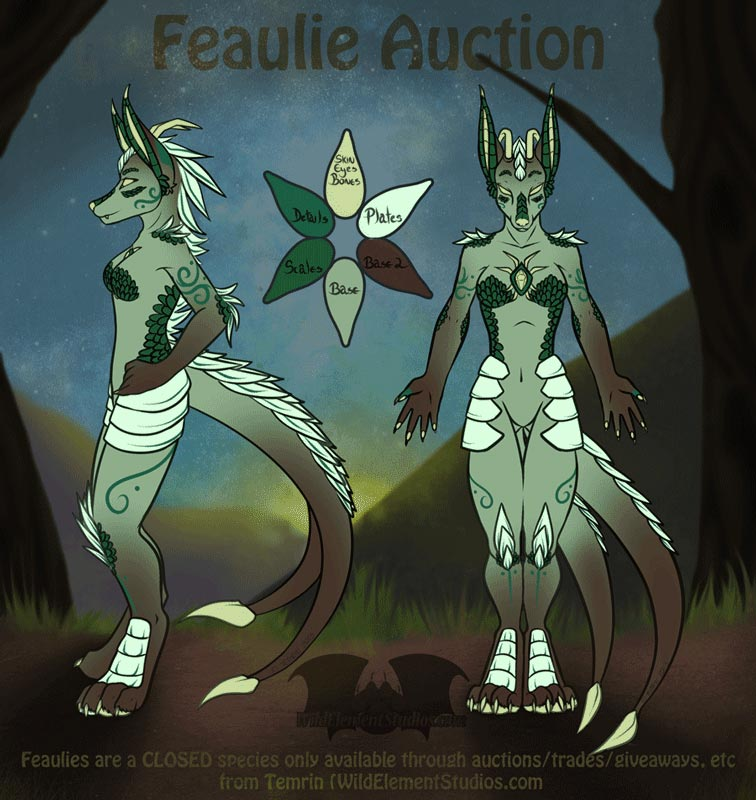 [FEAULIE][Closed Species] - Character Auction -REDO