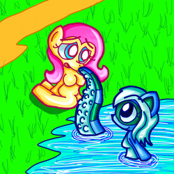 Teal and Fluttershy