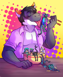 DJ enjoys otters, by CannibalPrince