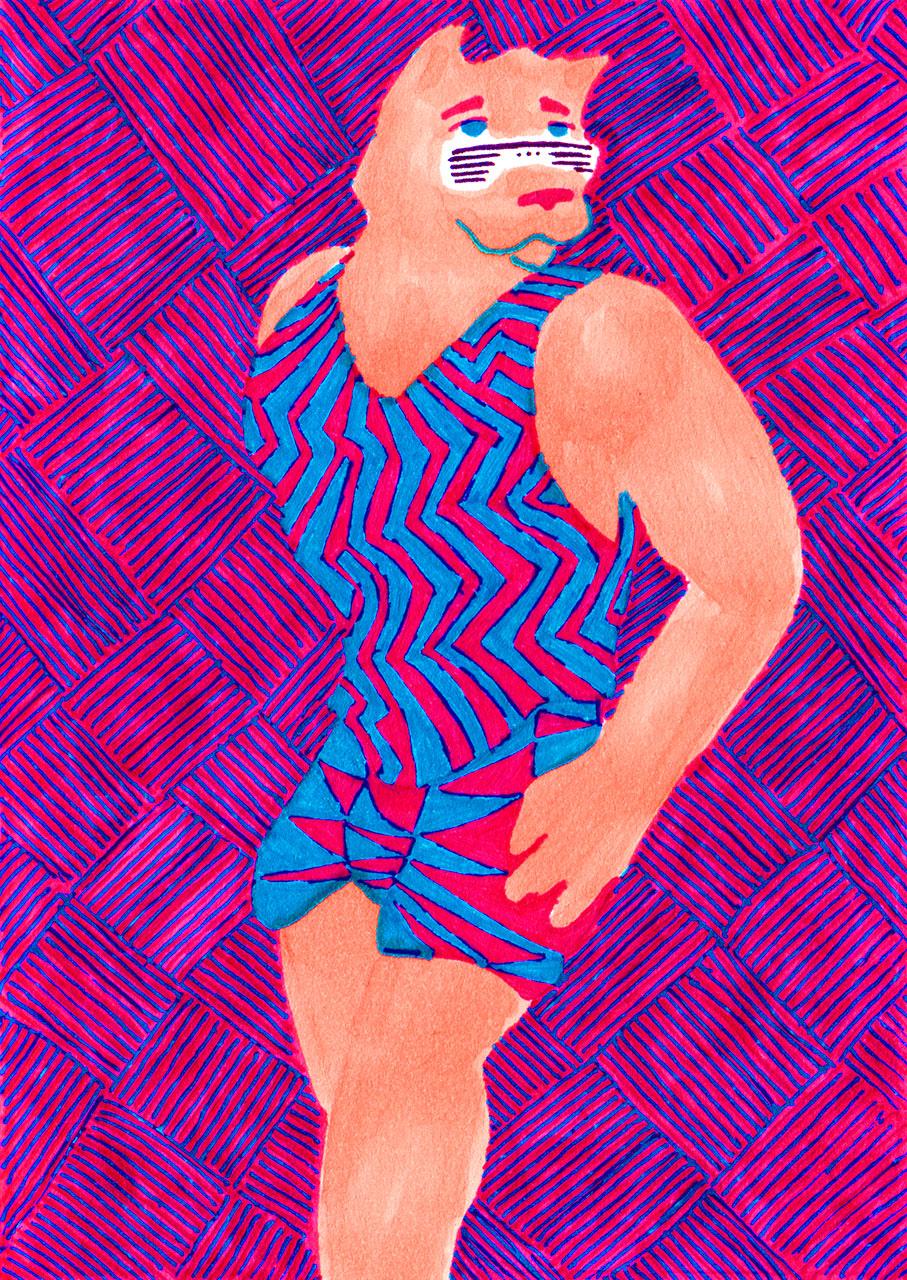 magentaSummerSwimsuit
