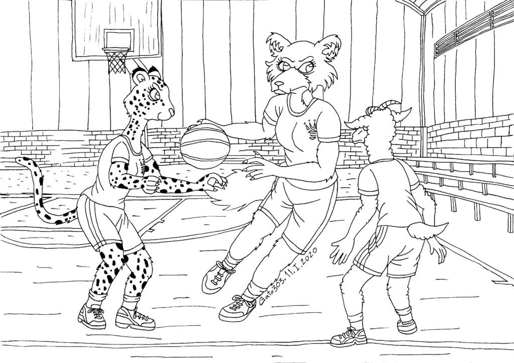 Beastars Playing Basketball