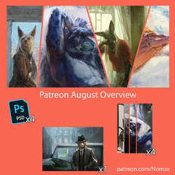 Patreon August overview