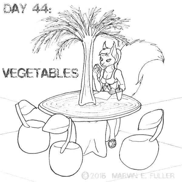 Daily Sketch 44 - Vegetables