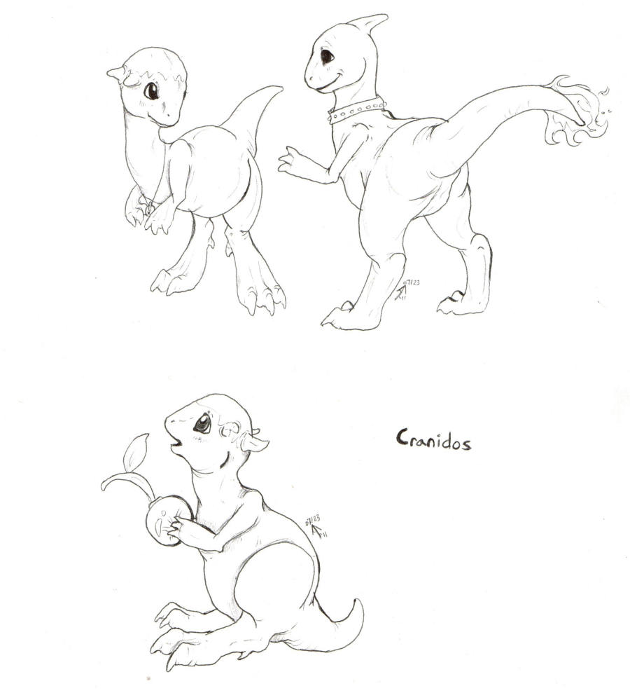 Cranidos and Charem - by LustBubbles