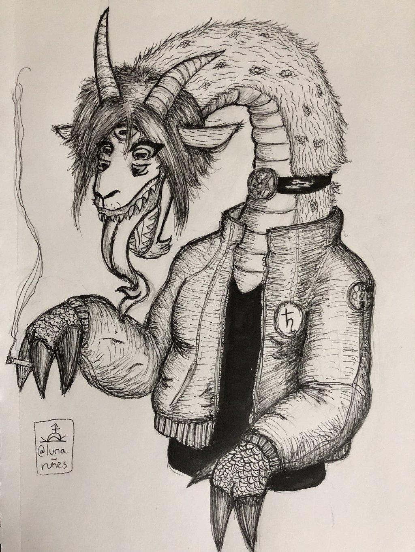 Featured image: goat dragon demon