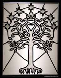 Faux Stained Glass: Tree of Gondor