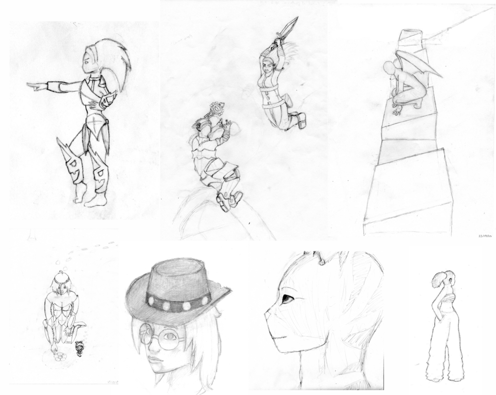 Wakfu / Dofus throwback - sketch dump