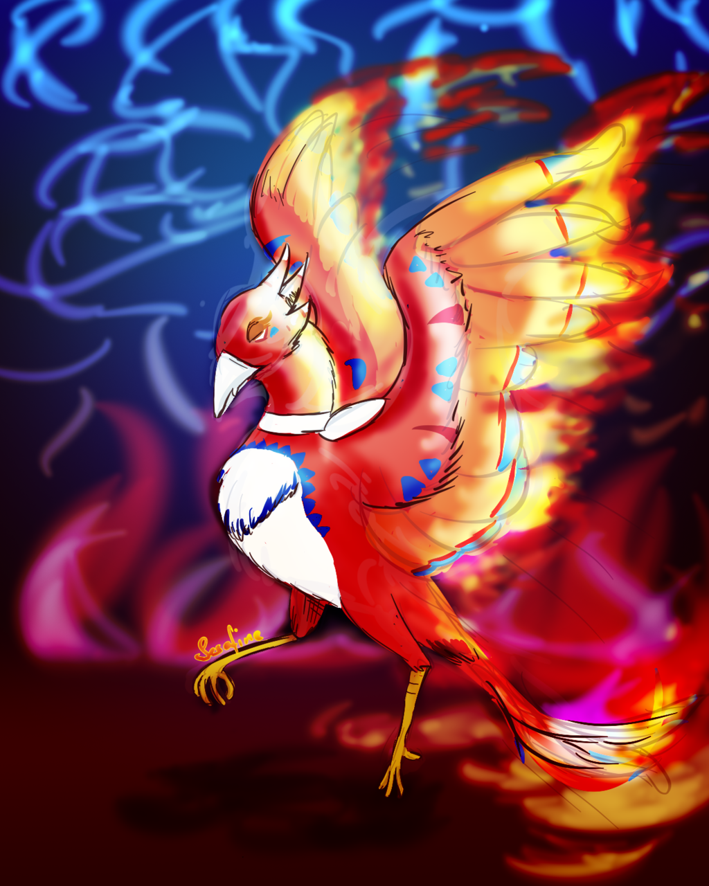 Most recent image: fierce firebird