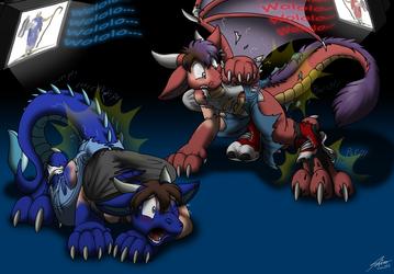 Wololo Dragons by Catmonkshiro