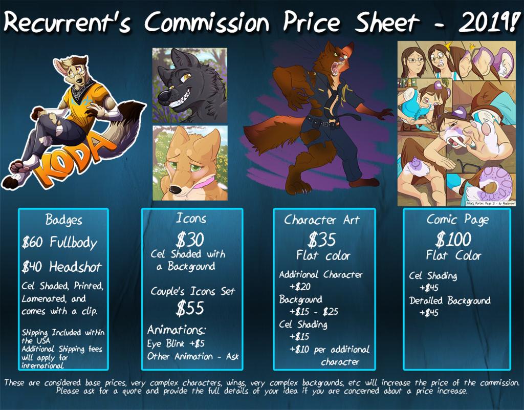 Commission Sheet 2019