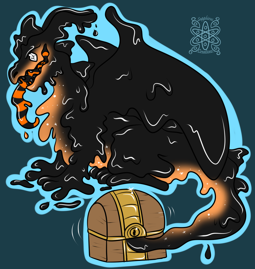 Mimic Dragon +Flatcolored Commission+