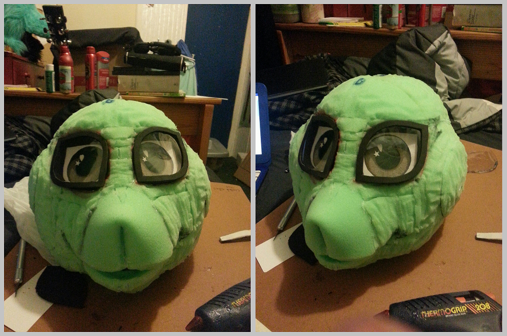 Boi's Suit WIP - Shape and Eyes
