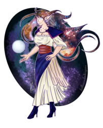 A Galaxy Flows with Her