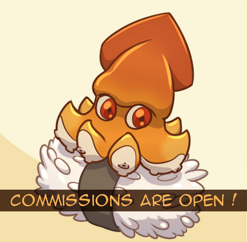 Most recent image: Commissions are open ! 5 slots available !