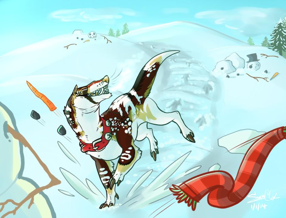 Dashing through the snow (e)