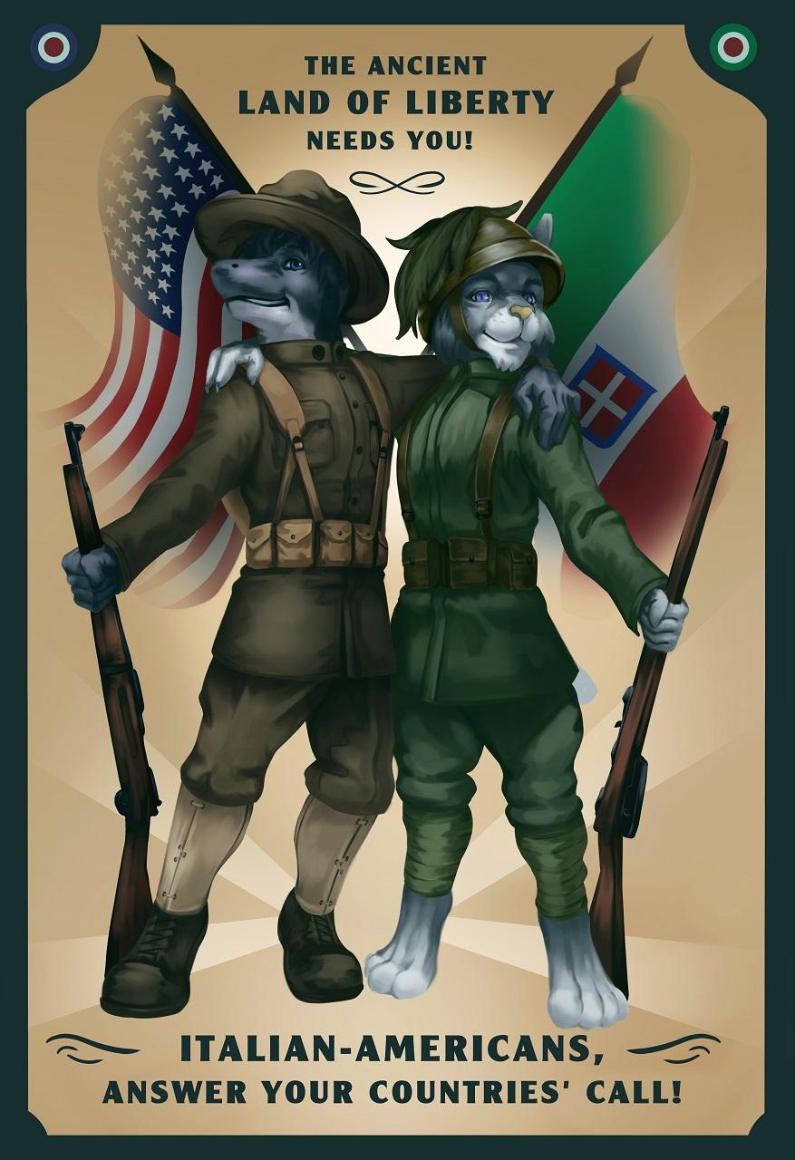 Italian-Amercan WW1 poster [C]