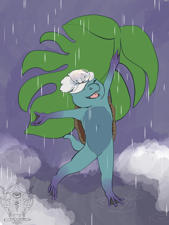 Kappa dancing in the rain