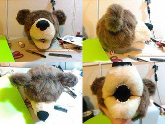 Bear Puppet progress: Labor Day Labor