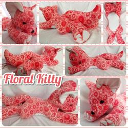 Floral Kitty Plushie