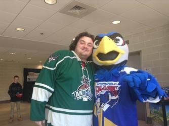 Screech the Falcon - The Springfield Falcons Mascot