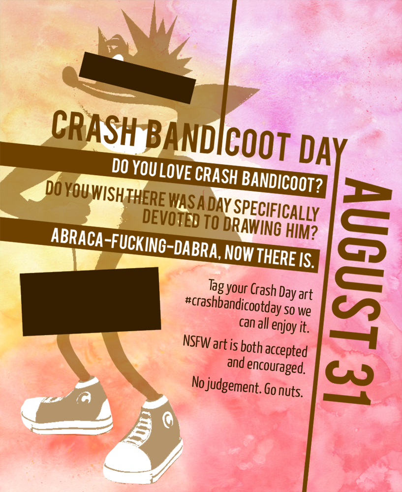 Most recent image: Crash Bandicoot Day Poster