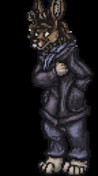 Uncle Jackalope pixel portrait