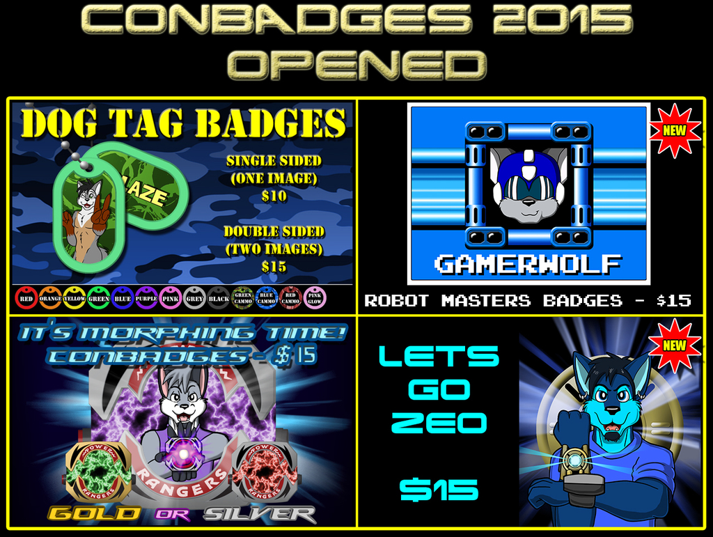 Conbadges 2015 - OPENED