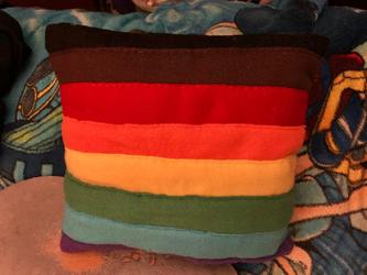 LGBTQIA+ Pride Flag Throw Pillow For Sale