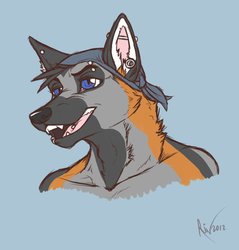 Colored Sketch - TJ bust