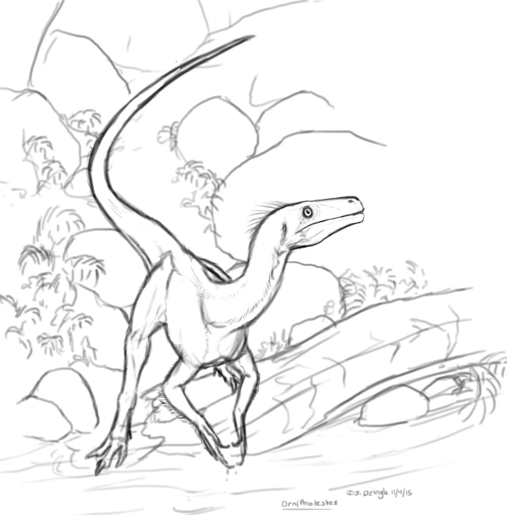 Dinovember - 4 - Ornitholestes