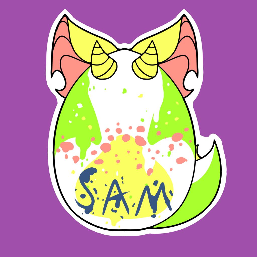 [C] Sam Egg Badge