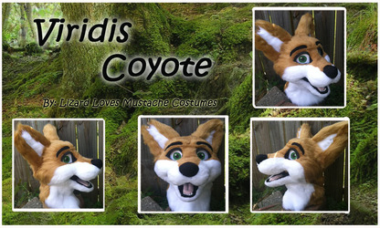Viridis Coyote Fursuit Head