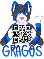 [Commission] Silver. - QR Badge